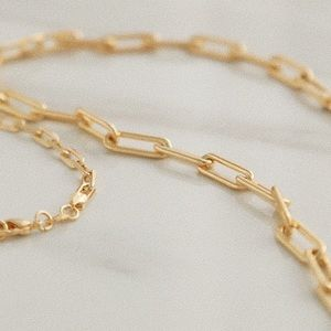 Soho Chain Necklace | 18k Gold Filled